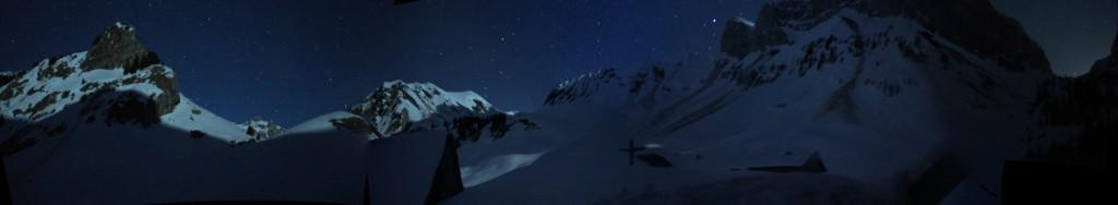 panorama refuge de bise - de nuit