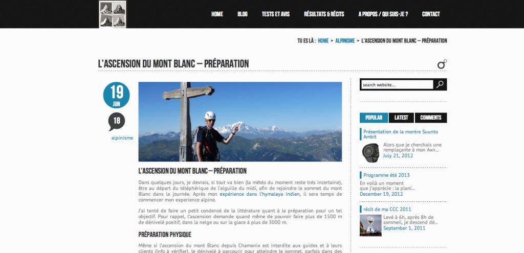 Conseils - l'ascension du Mont-Blanc - préparation