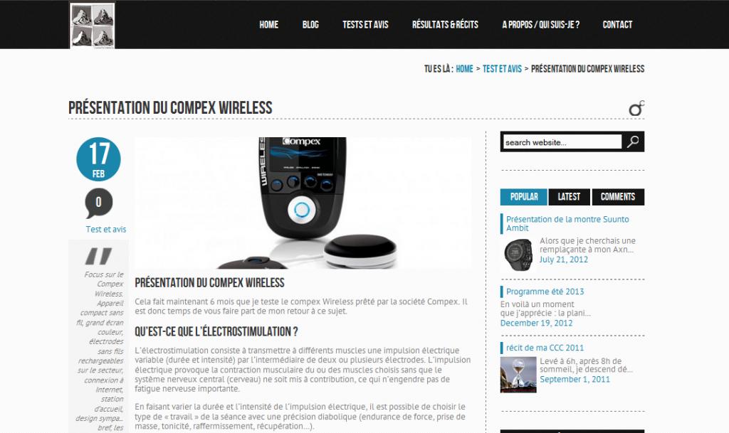 Tests - Présentation du compex wireless