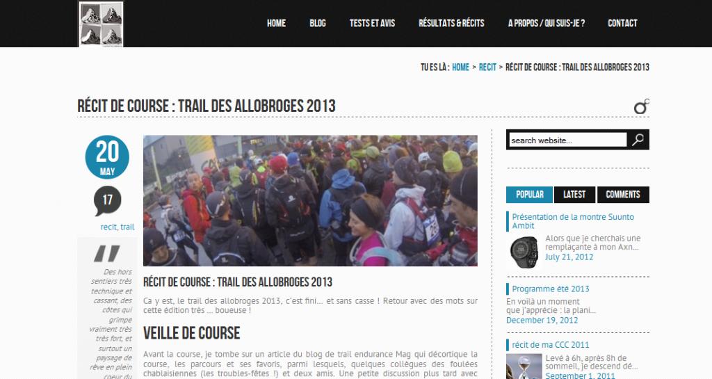 récit - trail des allobroges 2013