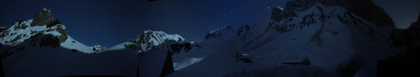 panorama refuge de bise – de nuit